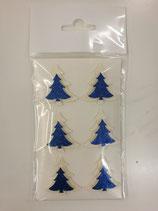 Sticker Tanne perl-creme/blau 10