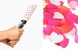 Konfetti-Shooter Herz rot, weiss & pink