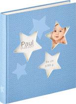 Fotobuch Baby Sterne blau