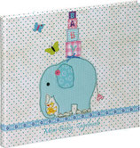 Babytagebuch Elefant mit Schmetterlinge
