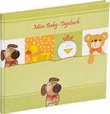Babytagebuch Tiere grün