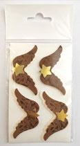 Sticker Flügel cremeperl/ braunsamt 08