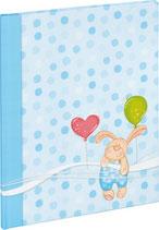 Babytagebuch kleiner Hase blau