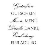 Stempel Clear, Gutschein 03