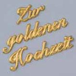 Wachsdekor Zur goldenen Hochzeit
