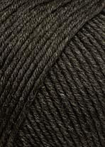 Lang Yarns Merino+ Farbe 368 Dunkelbraun Mélange
