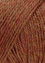Lang Yarns Baby Alpaca Farbe 062, Ziegel Mélange
