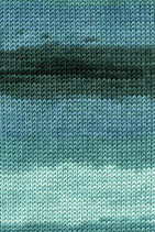 Lang Yarns Merino+ Color Farbe 018 Blaugrün/Anthrazit