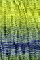 Lang Yarns Merino+ Color Farbe 044 Limone / Petrol