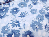 Jersey Blumen blau 0,5m