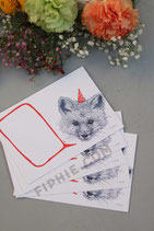 "Set of Postcards ""Little Fox Greeting Card"""