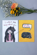 "Set of 2 Prints ""Bearly Human"""
