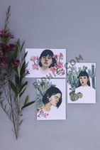 "Set of 3 Postcards   ""In Nature We Thrive"""
