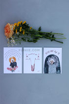 "Set of 3 Postcards ""I Care About You"""
