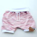 Kurze Pumphose rosa/weiß gestreift
