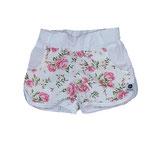 Kurze Shorts Rosentraum rosa/weiß