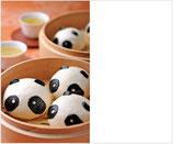 熊猫形豆沙包(中)(ぱんだ形あんまん)100g/25入り