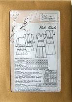 Cette pochette comprend le patron de la robe Enola dans les tailles 34 à 52 et le tuto de montage illustré.