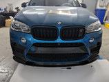"Карбоновая накладка на центральную часть переднего бампера ""CFA"" style BMW X6M f86"