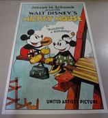 Disney ミッキー ミニー ポスター 絵 ディズニー 復刻版