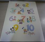 Disney 123`s ポスター ミッキー ミニー 絵