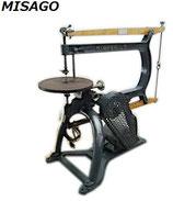 MISAGO ミサゴ 見砂式機械工業所 見砂式糸のこ盤 / 電動 100V 糸鋸 レトロ 古道具 動作難あり 現状品