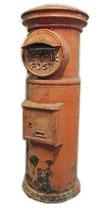 昭和35年製 丸型郵便ポスト 高さ135cm / 筒型 レトロ アンティーク