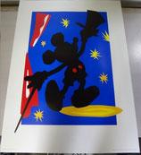 Disney マジシャンミッキー アートポスター 絵 ディズニー