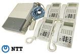 NTT ビジネスフォン ネットコミュニティシステムαNX タイプM-「E1」 電話機4台、主装置1台