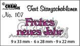 Crealies Text Stanzschablone (DE) Frohes neues Jahr