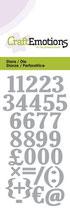 CraftEmotions Die - Zahlen (kleine Ausführung)