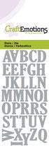CraftEmotions Die - Alphabet Grossbuchstaben (kleine Ausführung)