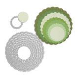 Sizzix Framelits Die Set 8pk Scallop Circles SIZ657552