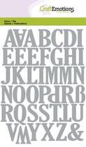 CraftEmotions Die - Alphabet Grossbuchstaben