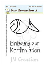 Jm Creation - Einladung zur Konfirmation - Fisch (Art-Nr: 07-00056)