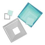 Sizzix Framelits Die Set 8pk Squares (Quadrate) SIZ657565