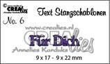 CREAlies Text Stanzschablone (DE) Für Dich
