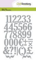 CraftEmotions Die - Zahlen
