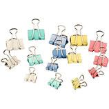 Foldbackklammern in Pastellfarben (30 Stück - sortiert)