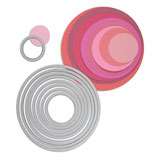 Sizzix Framelits Die Set 8pk Circles SIZ657551