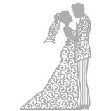 Rayher Stanzschablone Set Silhouette Brautpaar