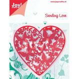 Joy! Crafts Stanz & Präge Schablone - Herz + Schmetterlinge - Sending Love