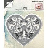Joy! Crafts Stanz & Präge Schablone - Blumen/Schmetterlingherz