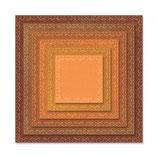 Sizzix Thinlits Die Set - Stitched Squares 6PK 662231 Tim Holtz