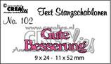 Crealies Text Stanzschablone (DE) Gute Besserung