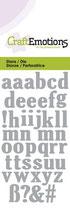 CraftEmotions Die - Alphabet Kleinbuchstaben (kleine Ausführung)