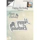 Joy! Crafts Stanzschablone - Happy Birthday