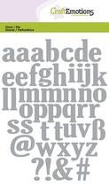 CraftEmotions Die - Alphabet Kleinbuchstaben