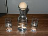 Wasserkaraffe 1 ltr. inkl. Zirbenkugel