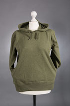 Damen Hoodie mit verschiedenen Motiven, moosgrün